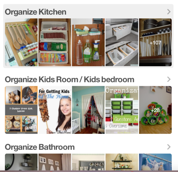 How to maximize Pinterest for a Small Business - break up your boards into sections!