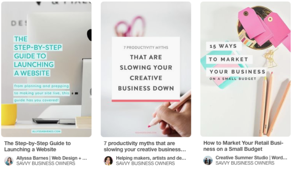 How to maximize Pinterest for a Small Business - choose attention grabbing headlines!
