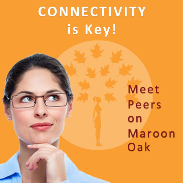 Connectivity is key. Join Maroon Oak to connect with other women entrepreneurs.
