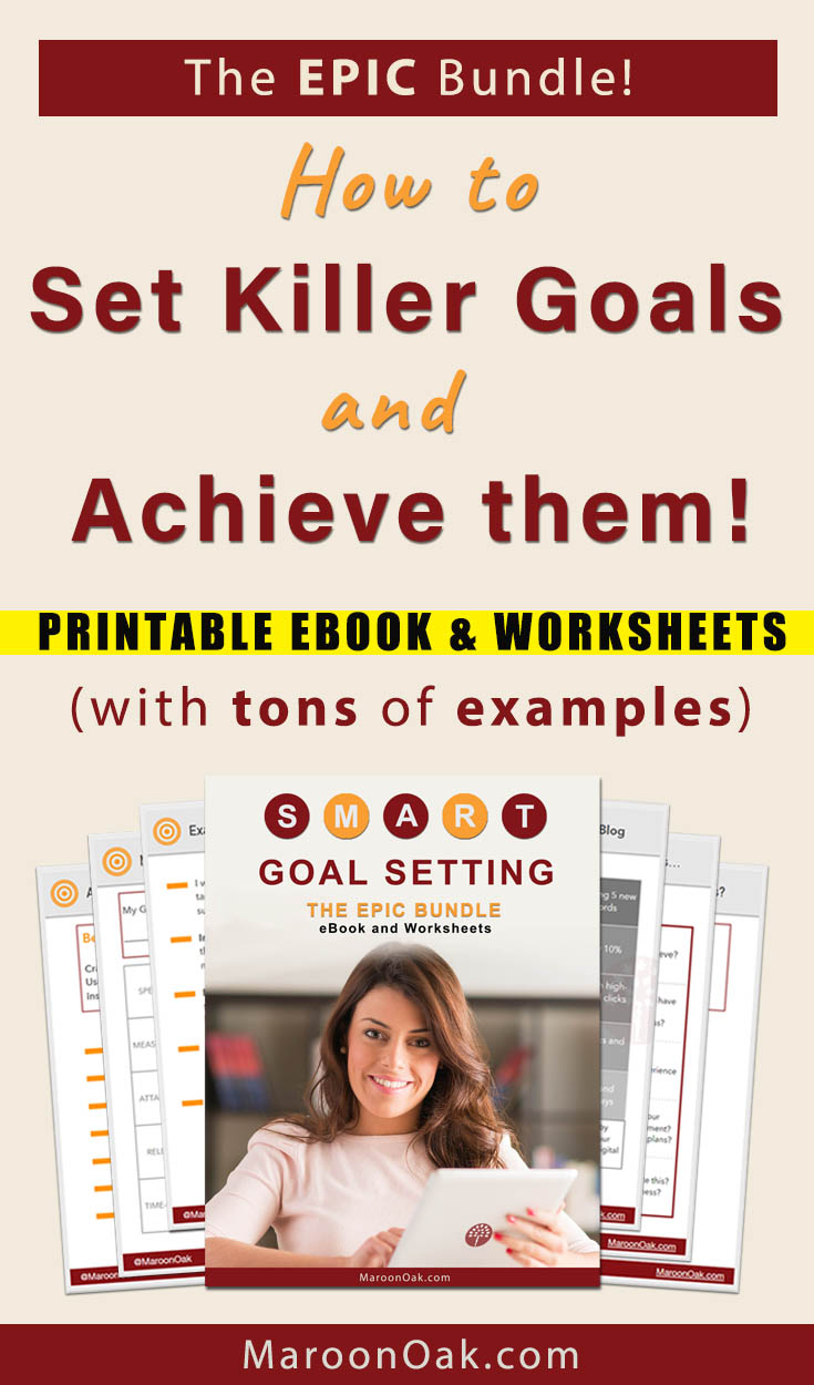 Are you setting goals but struggling with them? Need help in breaking them down or examples to guide you? Try this Ultimate Goal Setting Handbook. This eBook has everything you need to accomplish what's on your list. Get SMART Goals Templates, Worksheets and tons of Examples for your business and work! Don't miss this Epic Bundle! #goalsquotes #goalplanning #goalsetting