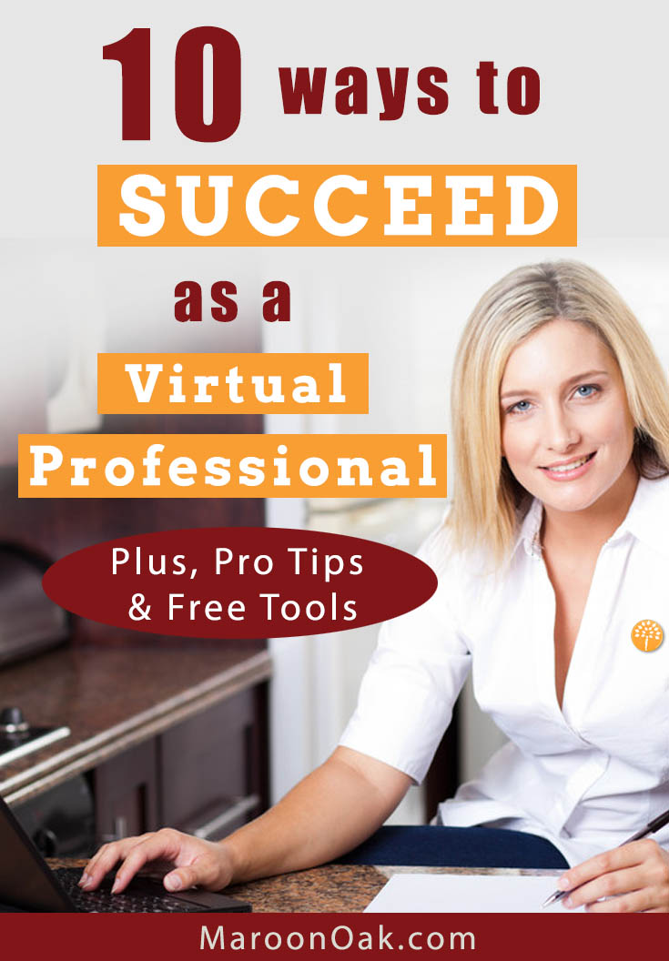 Start working from home with flexible VA work! How to choose your niche, work with the right clients & succeed as a Virtual Professional - Tips from 7 Pros