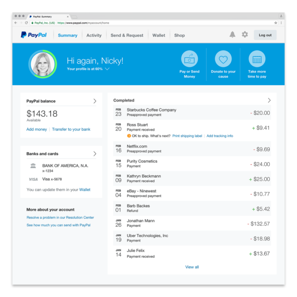 Paypal - free business tools for freelance and online work