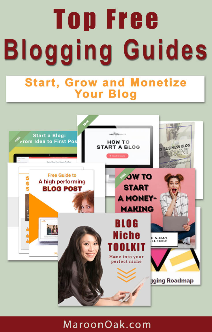 Start, grow and monetize your blog. Grab the best free Blogging Guides & Courses for moms, beginners and small business owners! Find your niche, get a pre-launch checklist, grab a profitable blogging roadmap to maximize traffic and conversions and more! #free #blogging #Course #resources #howto #startablog