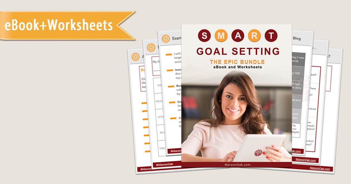 SMART goals template and ebook