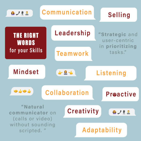 Soft skills and Resume action words for your LinkedIn Profile