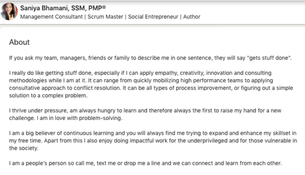 Pro tips and LinkedIn Summary Examples for Entrepreneurs & Founders