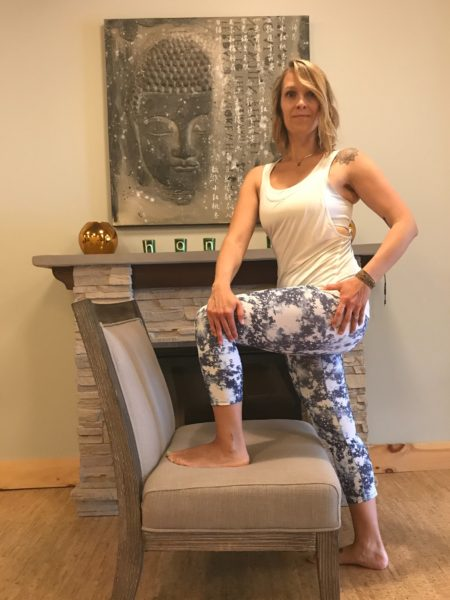 Standing Twist - Power of 5 Minutes Desk Yoga