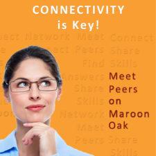 Meet Peers on Maroon Oak example with extra words