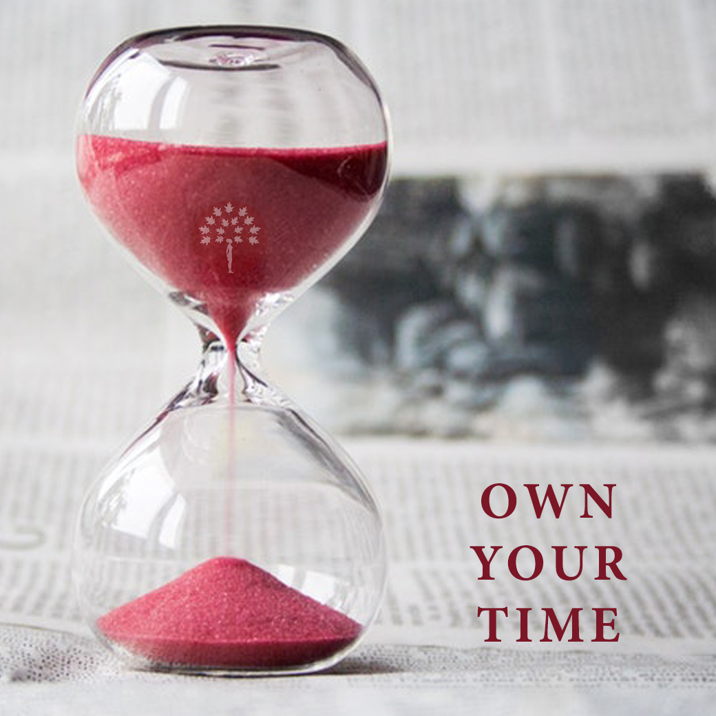 Own your time - Productivity tips for entrepreneurs on Maroon Oak