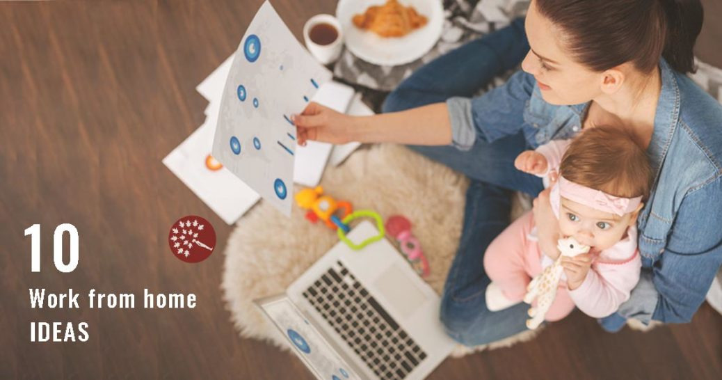 Great ideas and resources on 10 legit ways to earn money and be a stay at home Mom.