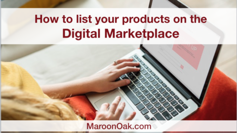 how to list your products on maroon oak