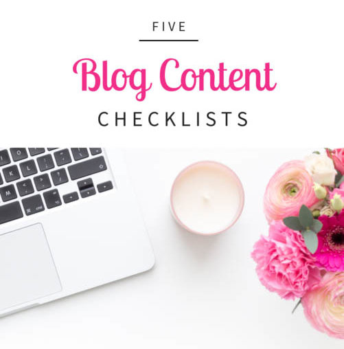 5 Blog Content Checklists - Business tools and freebies