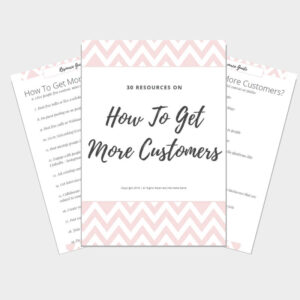 30 ways to get more customers