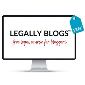 Free legal course for bloggers - Business Tools and Freebies on Maroon Oak